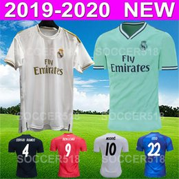 e387c6e6 Top 2019 2020 Real Madrid new white soccer jersey third away green football  jersey ISCO SERGIO RAMOS camiseta de fútbol ZIDANE maillots de