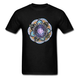 blue moon t shirts Canada - Moon Mandala T Shirts Men Classical Indian Tshirt For Adult Street Style Men's Cheaper T-Shirt Cotton Free Shipping