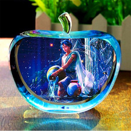 $enCountryForm.capitalKeyWord UK - 12 Constellation Clear Rare Crystal Glass Apple Model Figurines Paper Weights Natural Stones and Minerals Photo Customized Crystals for Home