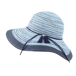 a7ee8b78 Sun Visor Hats for Women Wide Brim Straw Roll Up Ponytail Summer Beach Hat  Packable Foldable Travel