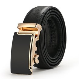 Luxo Automatic Buckle Cintos Cintas Da Cintura de Couro de Qualidade Designer Clássico Waferbands Ceinture Homens Casual Cintos de Negócios Belt 110-130 cm venda por atacado