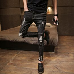 94fbb52c027c Matching Men skinny jeans online shopping - High Quality Men Jeans Brand  New Slim Fit Ripped