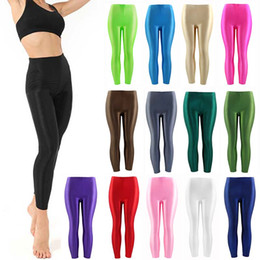 $enCountryForm.capitalKeyWord NZ - 2019 New 1PC Women Leggings Popular Panty Shiny Fluorescent Casual Spandex Trousers For Girl Large Size Solid Color Elastic