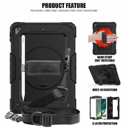 Discount strap for ipad - Shockproof Case for iPad 2018 9.7 A1893 A1954 Cover Stand Shoulder Hand Strap Case for iPad 2017 9.7 A1822 A1823 Generat