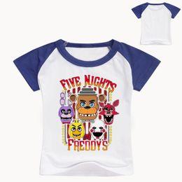 Nights Freddy S Clothes Australia - 2-12y Summer 100% Cotton Five Night At Freddy T-Shirts Boys T Shirts Girls Tops Tees Teenage Clothing T-Shirt FNAF Kids