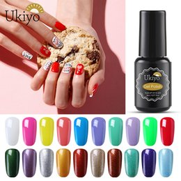 Discount yellow turquoise stone Ukiyo 8ml Nail Art Gel Nail Polish Semi Permanent Vernis Nail Polish UV Glitter Enamel Lacquer Soak Off Gel Polish GelLa