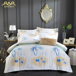 Beautiful Modern Bedding Australia - Beautiful Coconut Tree Duvet Cover Set King Queen Full Size Single Double Bed Cover 100% Cotton Quality New Design Bedding Sets