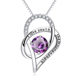 $enCountryForm.capitalKeyWord UK - Jewelry Sterling Silver I Love You to The Moon and Back Love Heart Cubic Zirconia Necklace Pendant