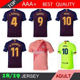 5699fdeb595 2014 2015 2019 TOP AAA TOP RED 2018 2020 NA hogar negro lejos 3RD camiseta  blanca de fútbol de color azul marino top top Muniform