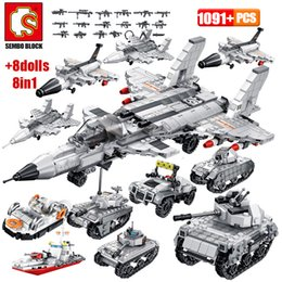 blocks police NZ - SEMBO Military Armoured Vehicle Tank Model Building Blocks WW2 City Police Antiaircraft Warship Figures Bricks Kids Toys