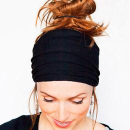 $enCountryForm.capitalKeyWord Australia - Soft Wide Hairband Hot Sale Elastic Stretch Turban Headwear Wrap Scarf Hat Headbands Hair Accories Drop Shopping