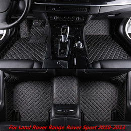 $enCountryForm.capitalKeyWord Australia - High-quality Man-made Leather Special Designed Custom Car Floor Mats for Land Rover Range Rover Sport 2010-2013 Front and Second Row Offered