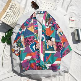 Shirts Men Jacket Australia - 2018 Japanese Kimono Shirts Men Hip Hop Streetwear Harajuku Shorts Sleeve Shirts Men 3D Printing Rapper Hawaii Jacket