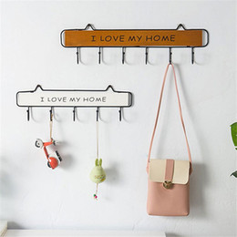 clothes hanging shelf Canada - 4 5 6 Pcs Cute Wall Mounted Clothes Hanger Hooks Hat Key Holder Laundry Coat Rack Hanging Storage Shelf For Home