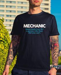 funny cars jokes 2019 - Mechanic Definition T-Shirt - Funny Joke Gift Novelty DIY Car Work Father Dad Funny free shipping Unisex Casual Tshirt c