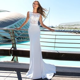 Man Made Dresses Australia - 2019 White Formal Dresses New Look Long Brides Dresses Beautiful Party Dresses Wedding Party Dress Chinese Factory High Quality Man Made
