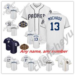 Custom 50TH San Diego Padres Tony Gwynn Eric Hosmer 2019 New 13 Manny  Machado Jersey discount mlb jerseys 4a5b04feea0f