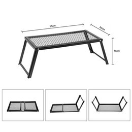 100% Original Docooler Carbon steel Heavy Duty Over Fire Camping BBQ Grill Foldable Portable Outdoor folding grill home 55 * 30 * 18cm on Sale
