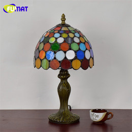 $enCountryForm.capitalKeyWord Australia - FUMAT European Style Stained Glass Art Deco Table Lamp American Tiffany Bar Restaurant KTV Table Lights LED Glass Shade Lamps