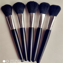 loose brush makeup NZ - 2020 NEW Single Black Wooden Handle Makeup Brush Beginner tool Facial Mask Brush Foundation Brush Set Loose-painted