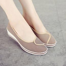 85b5e625c22 Designer Dress Shoes Women Slip On Canvas Soft Autumn Loafers Female Casual  Shallow Platform Wedges Ladies Fashion Breathable Nurse Mother