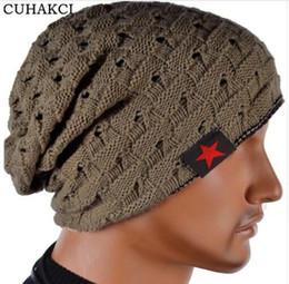 $enCountryForm.capitalKeyWord NZ - Winter Warm New Fashion For Men Skull Chunky Women Knit Beanie Reversible Baggy Snow Cap Warm Unisex Hat 8 Colors M003