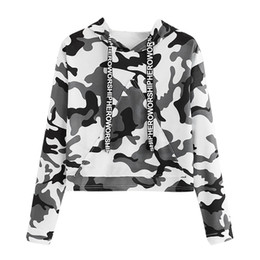 camouflage blouses women NZ - Women Fashion Sweatshirts Camouflage Print Hoodie Sweatshirt Autumn Hoodies Sweatshirts Women Long Sleeve Pullover Tops Blouse