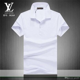 brand mens polo NZ - 18ss Mens Polo Shirts Luxurys T-Shirts Men Brand Shirt Summer Casual Couple Mens Designers Clothing Loose Fashion Tide Letter Print Shirt