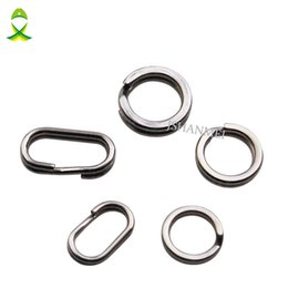 Connectors 4mm Australia - steel sound JSM 200Pcs lot Stainless Steel Round Oval DOUBLE Split Ring Fishing Tackle Connectors double loop 4mm-10mm