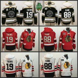 Patrick kane hoodies online shopping - Men Chicago Blackhawks hockey hoodies Patrick kane Jonathan Toews Winter Classic Black all Stitched Jerseys sweaters