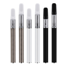 disposable kit NZ - Disposable 350mah Passthrough Vape Pen Battery ECig Kit 0.5ml 1.0ml TH205 Ceramic Coil Cartridge All Starter Kit For Thick Oil