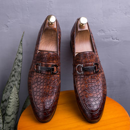 casual shoes luxury style Canada - Luxury Men Dress Leather Shoes Men British Style Business Wedding Leather Shoes Casual Boat Small Leather Shoes Size 38~46