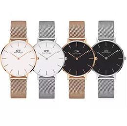 475d2a7199ff Top Marca de lujo Oro rosa Reloj de cuarzo 40 mm Hombres mujeres Pareja  Casual Reloj de cuarzo japonés Malla de acero inoxidable con reloj delgado  Señoras