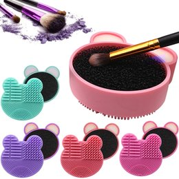 $enCountryForm.capitalKeyWord Australia - Makeup Brush Cleaner Kit Double Side Design With Cosmetic Brush Cleaning Box And Instantly Dry Color Removal Sponge