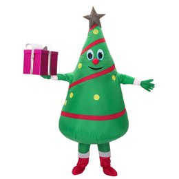 tree costumes Australia - Hot Sale adult inflatable costume new design Green Christmas Tree Mascot Costume Free Shipping