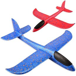 Toys Airplane Australia - 48 Cm Good Quality Hand Launch Throwing Glider Aircraft Inertial Foam Epp Airplane Toy Plane Model Outdoor Toy Educational Toys