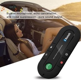 Hands Free Visor Australia - Wireless Bluetooth 4.1 Hands-free Car Kit Sun Visor Speakerphone Bluetooth Speaker MP3 Music Player Car Charger Drop Shipping