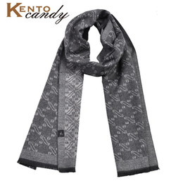 cotton scarves soft long Australia - high quality silky Scarf Luxury Classical Warm Long Soft Cravat bandana cotton Winter Scarves for Men Winter Accessories