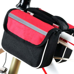 Wholesale three in one bicycle tube bag durable practical mountain bicycle bag Mobile Phone Bag Bike Accessories three colors LJJZ58
