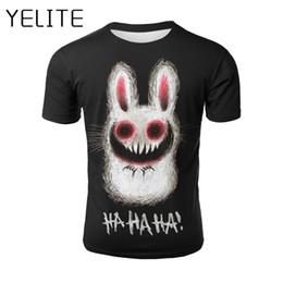 539c4a6e8aeae YELITE Rabbit T Shirt Ghost T-shirt Cartoon Anime Tshirt Summer Men Casual  Tops Happy Halloween 3d Printed T Shirt Hip Hop Style