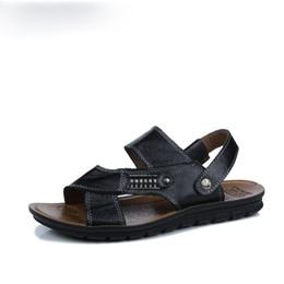 $enCountryForm.capitalKeyWord UK - Leather Big Size Men Shoes Fashion Flat Sandles Summer Men Shoes Beach Male Sandals Leather Sandals For Men