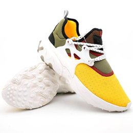 designer golf shoes UK - 2019 Air Presto React Running Shoes Men Women Black White Oreo Gold Yellow Casual Designer Trainer Sport Sneaker Size 36-45