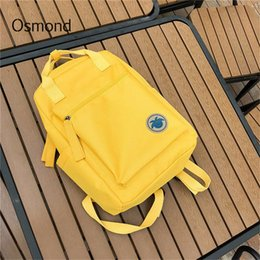 $enCountryForm.capitalKeyWord Australia - Osmond 2018 Women Yellow Back Packs Feminine Canvas Backpack For Teenager Girls Casual Travel Mochila Satchel School Bags Female Y19061102