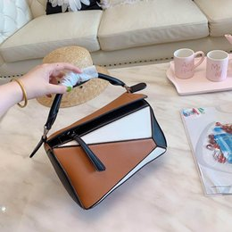 $enCountryForm.capitalKeyWord Australia - 2019 Arrival Womens Luxury Puzzle Rugby Small Handbags Mix Colors Leather Lady Designer Fashion Evening Shoulder Bags Dress Totes With box