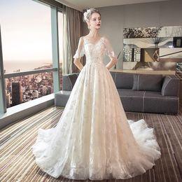 891e966a46 Wedding Dresses New Bride Qidi Marriage Tail Princess Dream Tour Photo  Super Fairy