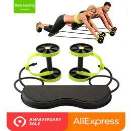 Mat Legging Australia - Fitness Ab Wheel Roller with Mat Trainer Abdominal Arm Leg Leg Exercise Multi-functional Exercise Fitness Gym Equipment