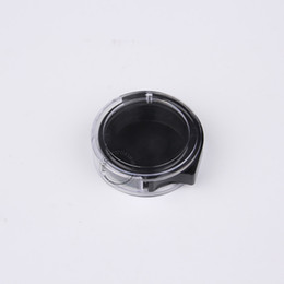 eye shadow for black women UK - Makeup Tools For Women 2g Plastic Eye Shadow Powder Blush Jar 2ml Black+Clear Cosmetic Packaging Pot Box 100pcs Free Shipping