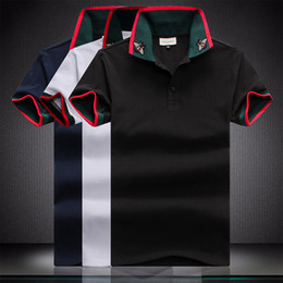 Wholesale collar t shirts design for sale – custom UK Fashion Summer Men London Solid Fred Polo Shirt Leaf Embroidery Striped Collar England Design Casual Polos Cotton Perry Classic T Shirts