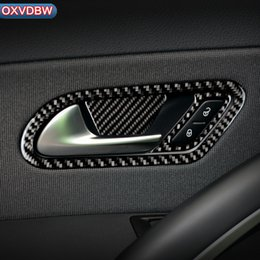 $enCountryForm.capitalKeyWord Australia - For volkswagen scirocco R Accessories Carbon Fiber Internal Stickers Door Handle Rearview mirror knob 2009-2016 Car Styling
