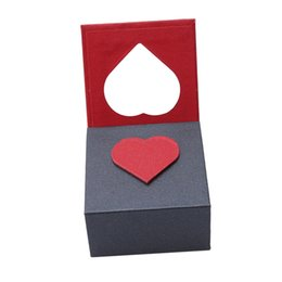 $enCountryForm.capitalKeyWord UK - 1 Pc Exquisite Jewelry Gift Box Heart-shaped Casket For Wedding Ring Bangle Bracelet Pendant Necklace Decoration Packaging Box